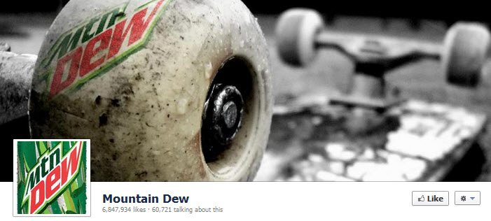 Facebook Mountain Dew