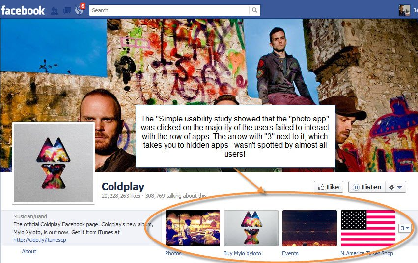 Coldplay Facebook Apps
