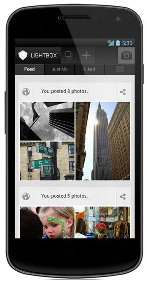 Lightbox Android mobile photo app