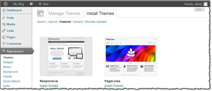 Customizing and adding themes for your WordPress blog