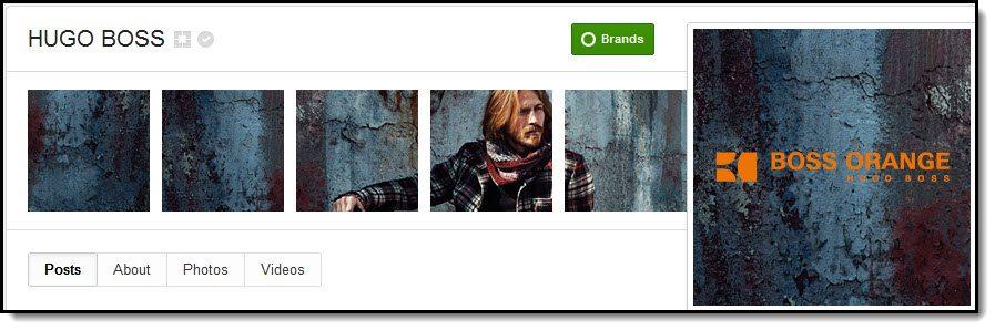 Hugo Boss Google+ cover