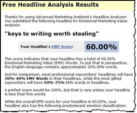 Keys to Writing worth Stealing