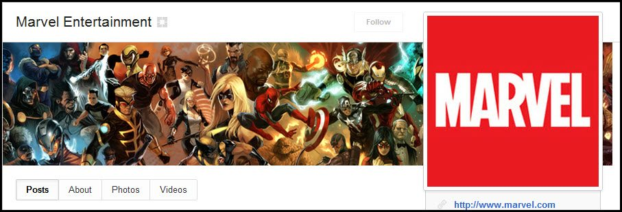 Marvel Google+ cover images and photo