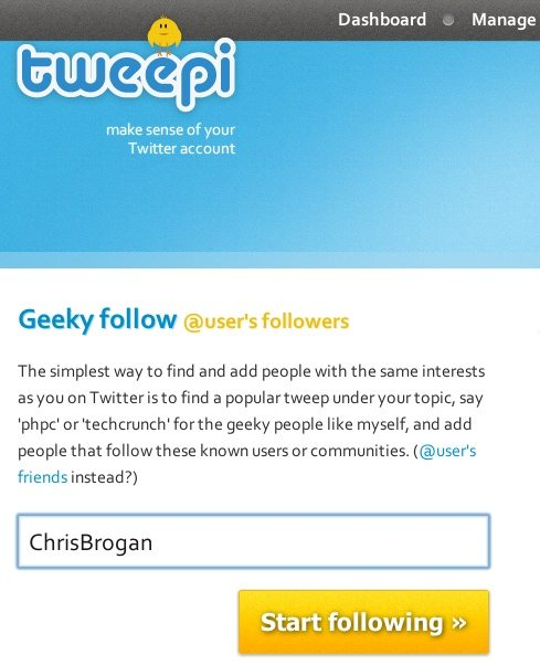 Building a targeted tribe on Twitter with Tweepi