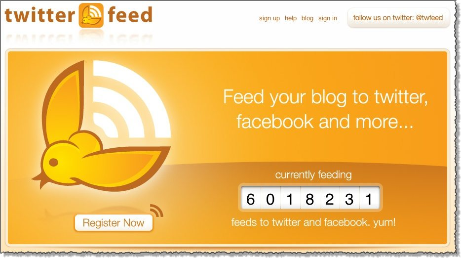 Twitterfeed Twitter productivity tool