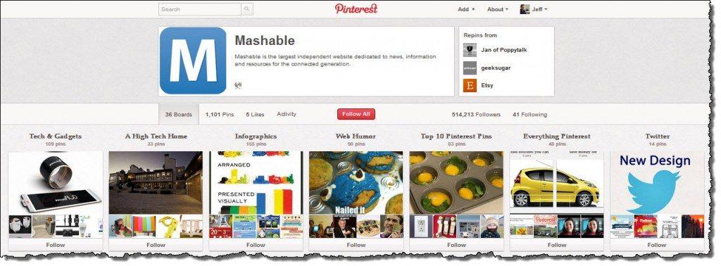 Mashable Pinterest