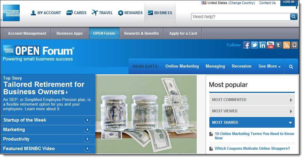 American Express Open Forum Community