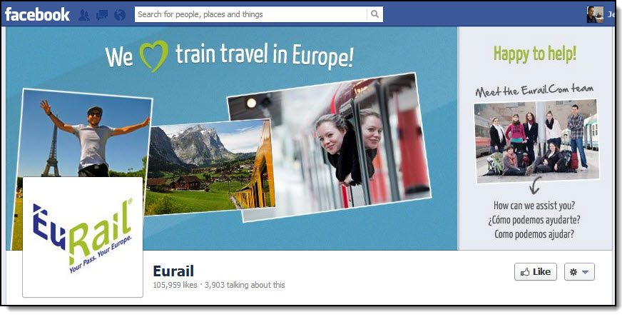 Eurail Facebook Page