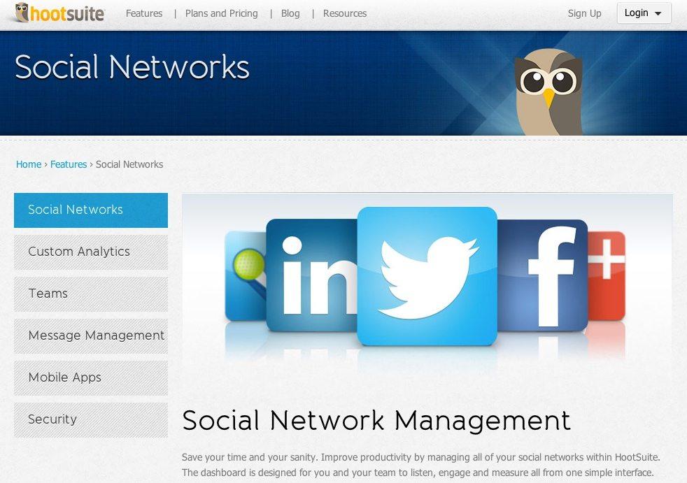 Hootsuite Social Network Mangement