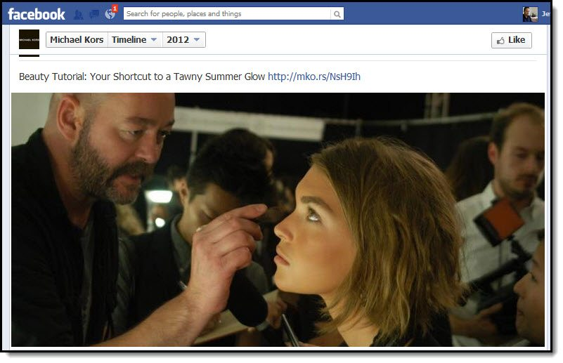 Michael Kors Facebook page
