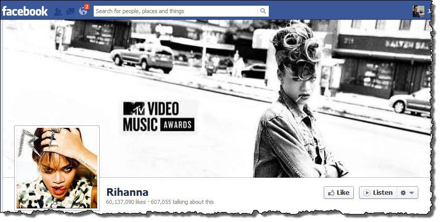 Rihanna Facebook Page