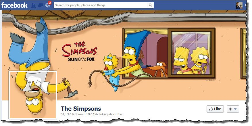 The Simpsons facebook page