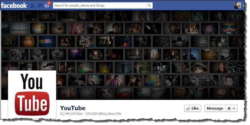 YouTube facebook page