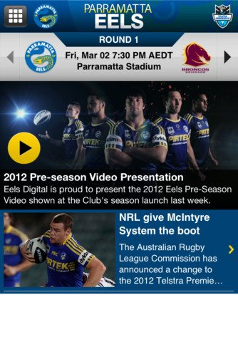 Parramatta Eels iPhone app