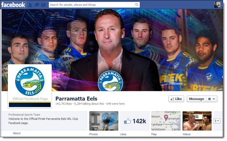 Parramatta Eels Rugby League Facebook page