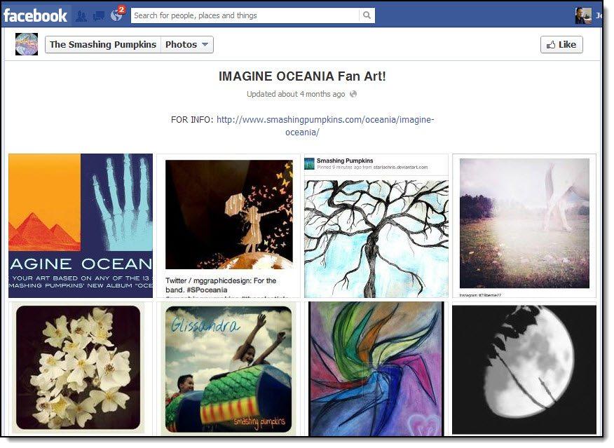 Smashing Pumpkins Facebook Page Imagine Oceania Social Media Competition