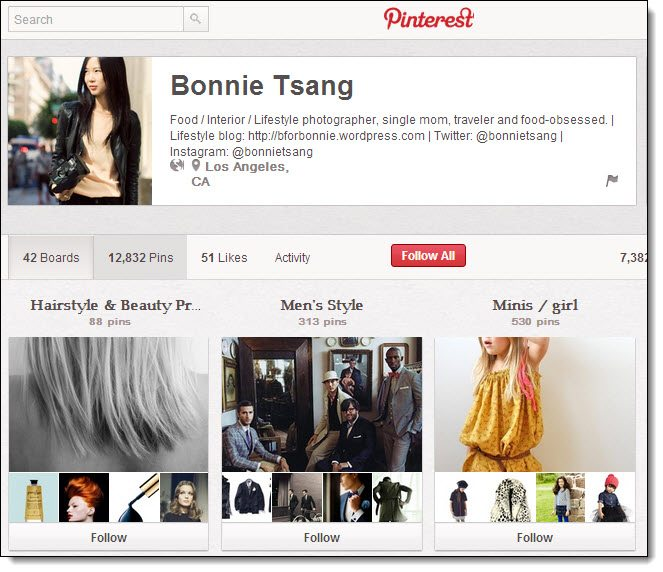 Bonnie Tsang Top 5 on Pinterest