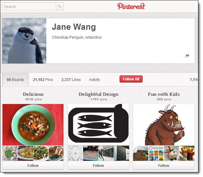 Jane Wang Top 5 on Pinterest