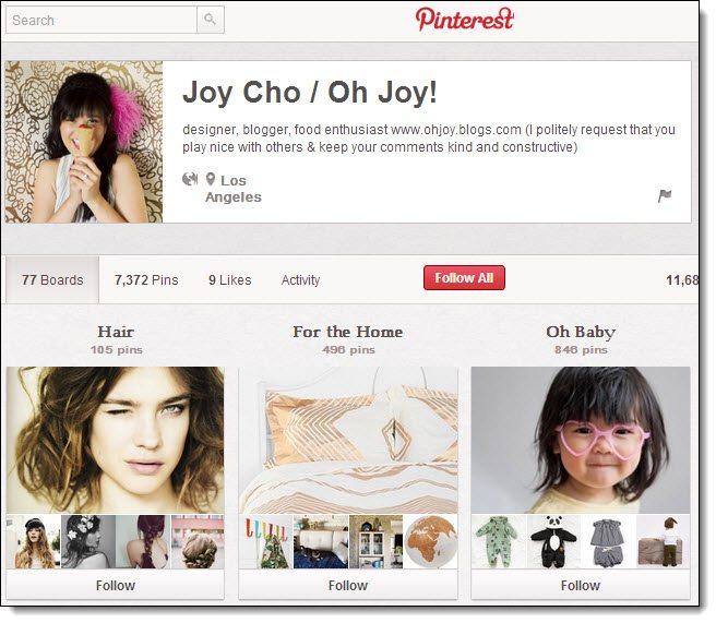 Joy Cho Top 5 on Pinterest