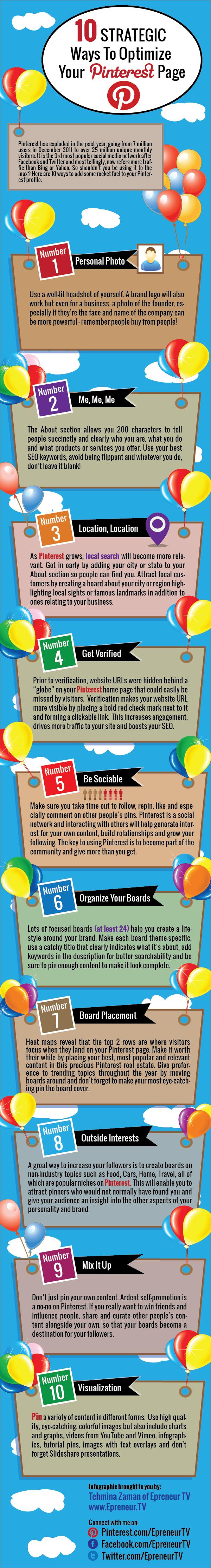 10 Ways To Optimize Your Pinterest Profile