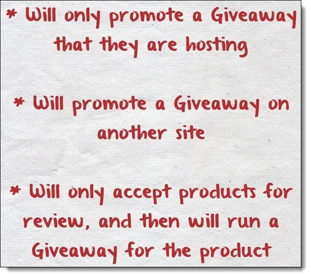 3 Types of Giveaways
