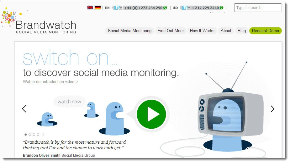 Brandwatch Tools for Online Reputation Management