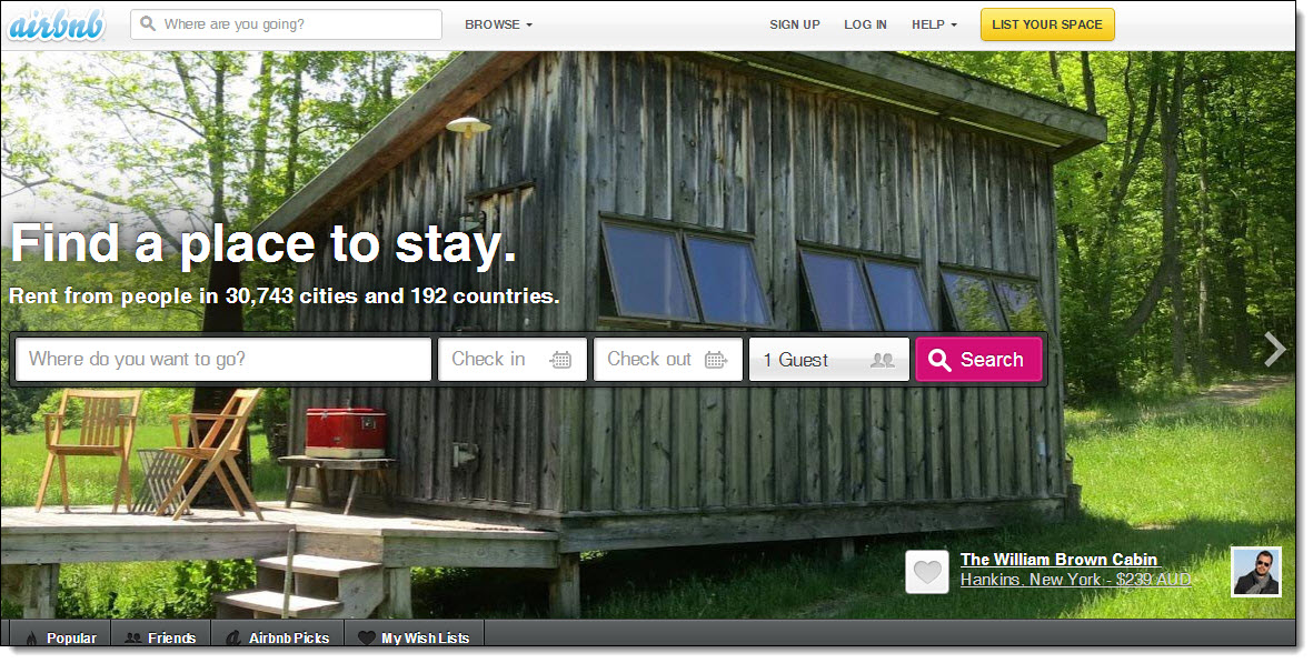 Airbnb and  the visual social web