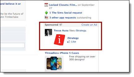 Facebook sponsored stories ads