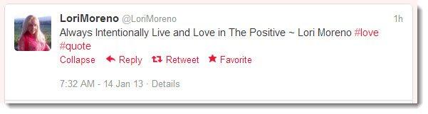 Lori Moreno Quotes on Twitter