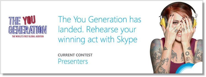 Skype Facebook Contest Call to acton