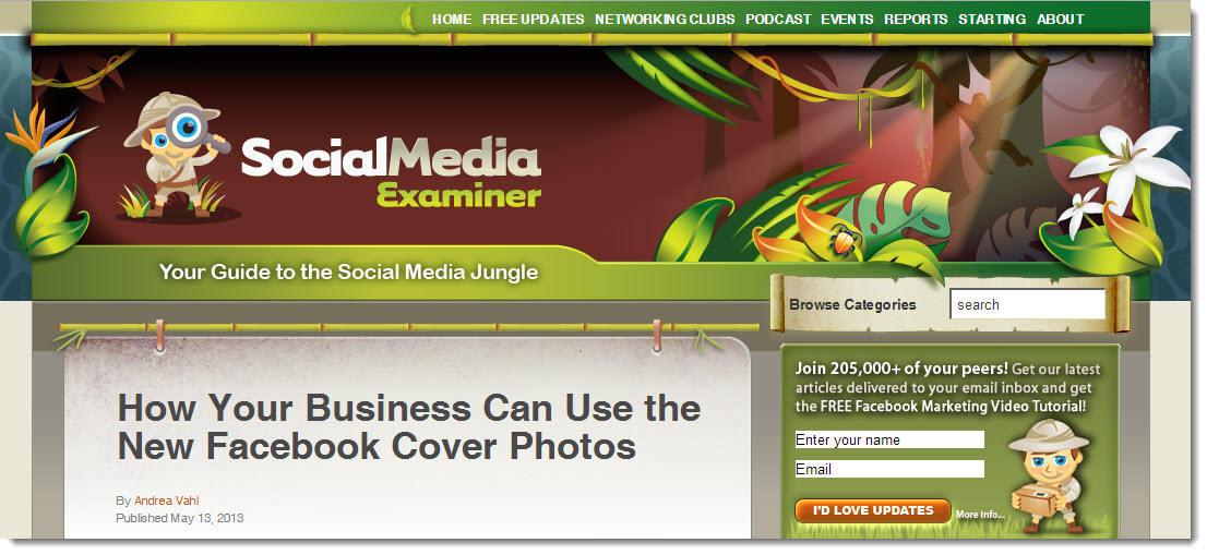 Social Media Examiner Blog Monetising Case Study Webinars and Seminars