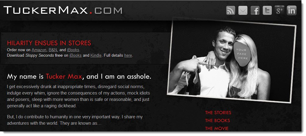 Tucker Max Blog case study how to make money