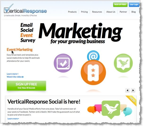 5 email marketing tools to help you grow your business for Vertical response templates