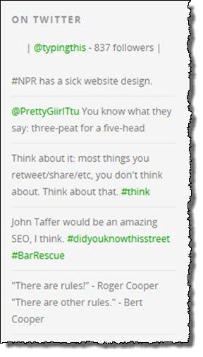 Twitter Feed WordPress plugin