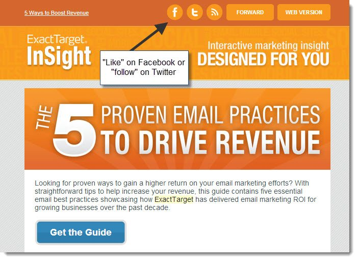 Exact Target email and social integration
