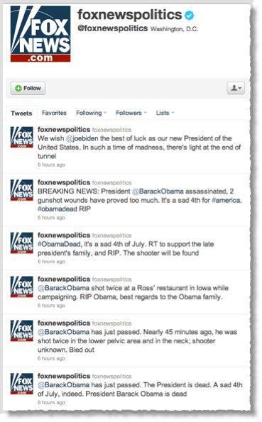 Fox News Twitter account hijacked