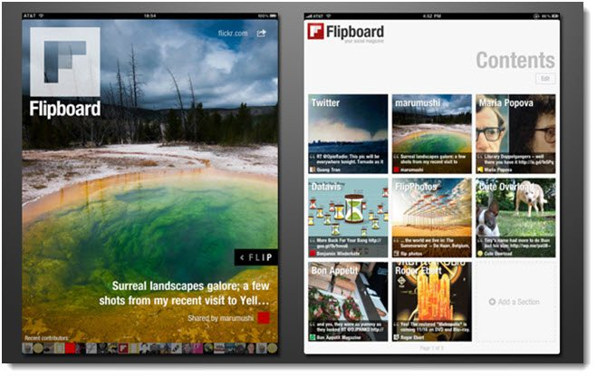 Flipboard app for social media news