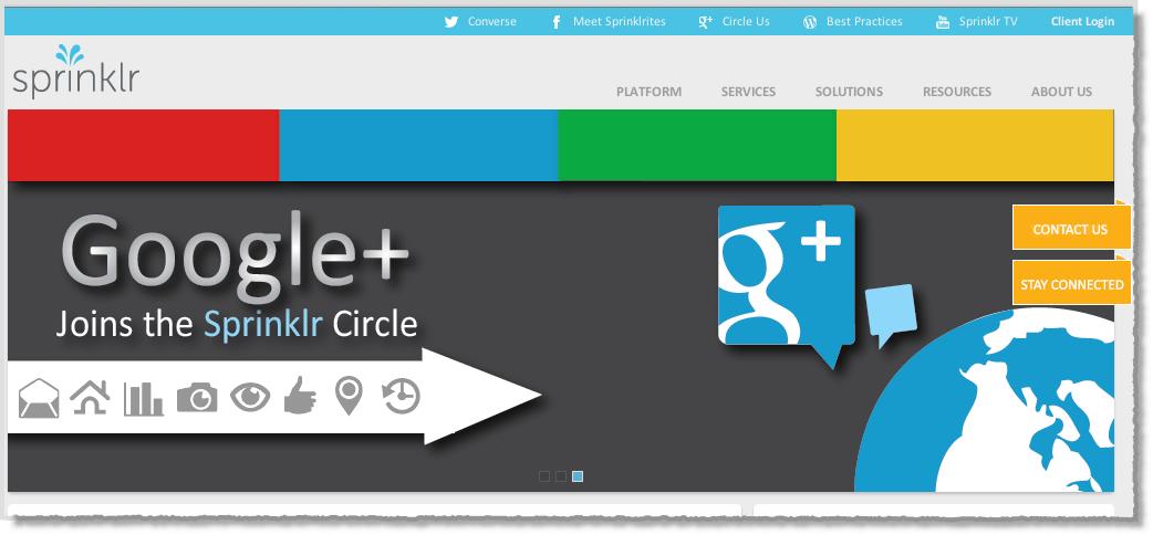 Sprinklr and Google+