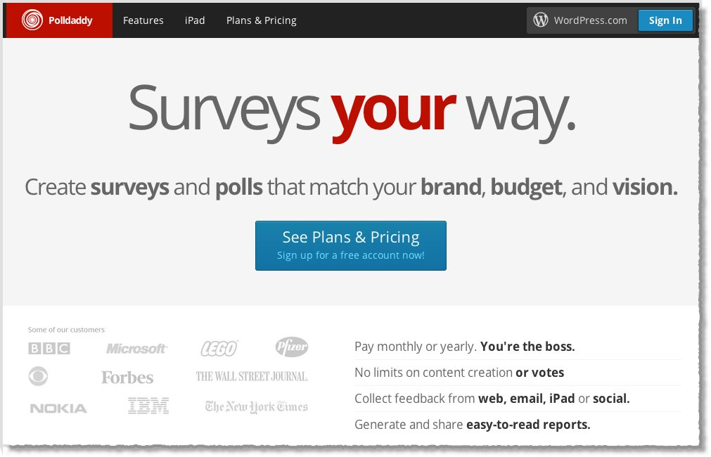 PollDaddy Survey Tool