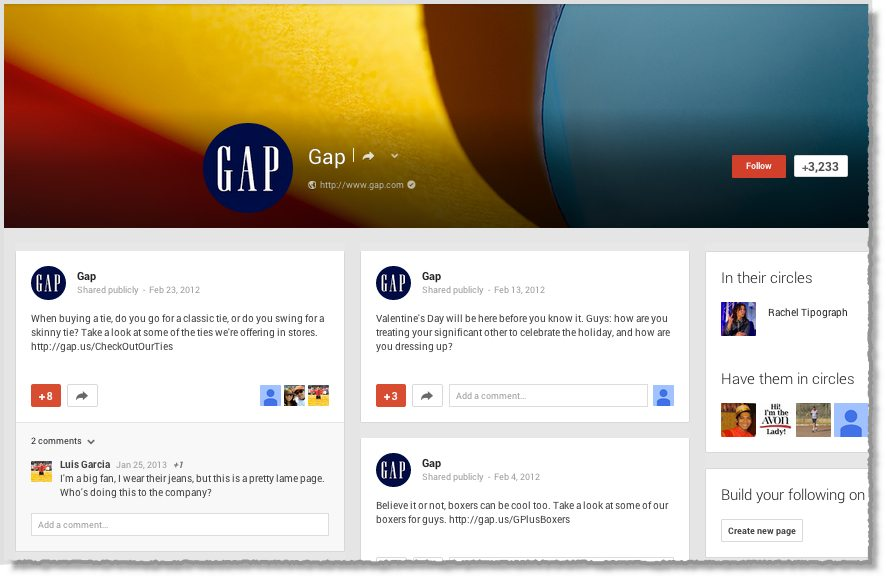Top Brands with the worst Google+ pages 3