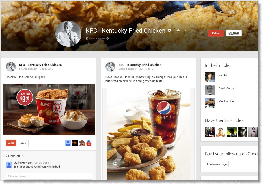 Top brands with the worst Google+ pages