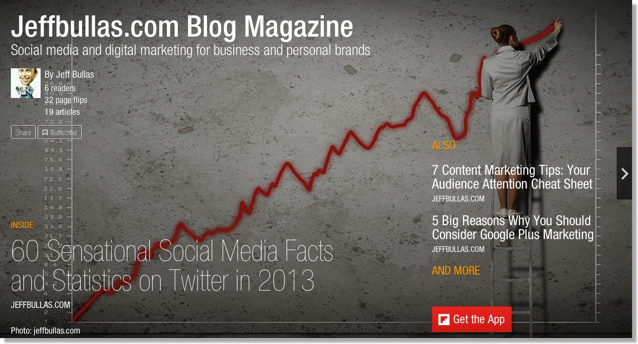 6 Ways Brands Can Amplify their Marketing with Flipboard Magazines - Jeffbullas's Blog