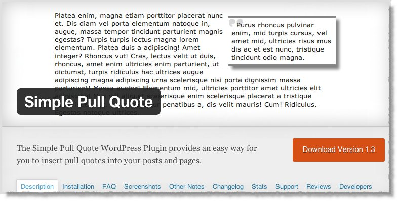 Top 10 WordPress Plugins Simple Pull Quote