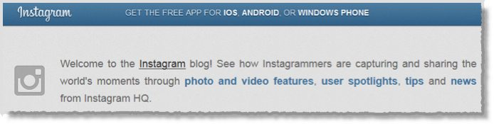 Instagram Company Blog