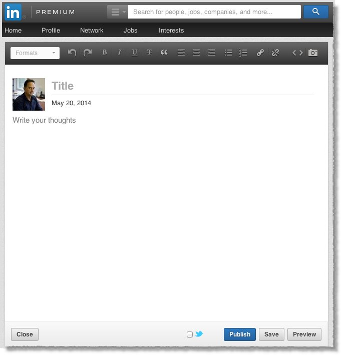 LinkedIn Publishing Platform