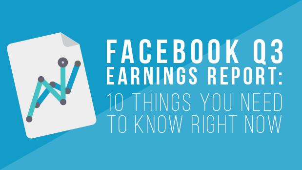 Facebook Q3 Earnings Report