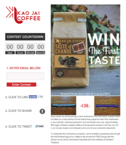 Kao Jai Coffee Facebook Campaign