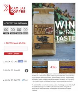 Kao Jai Coffee Facebook Campaign