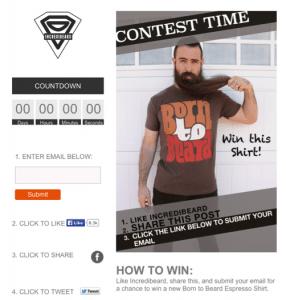 Incredibeard Facebook Contest