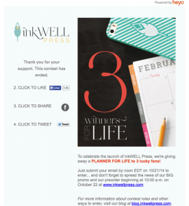 Inkwell Press Facebook Campaign
